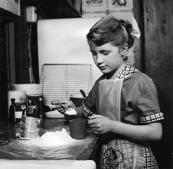 Joan making cookies